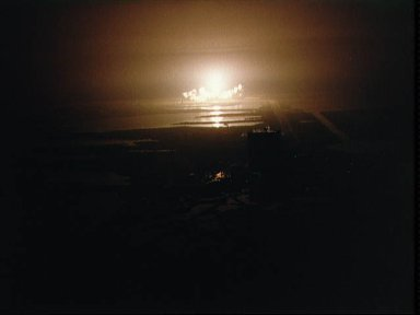 Night launch of Challenger STS-8