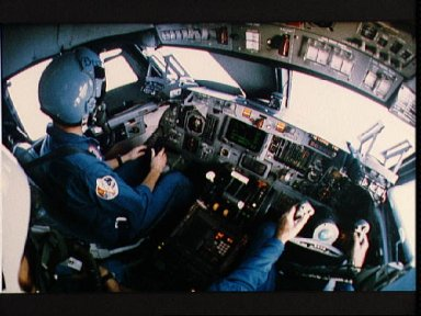 Young and Shaw in Shuttle Training Aircraft