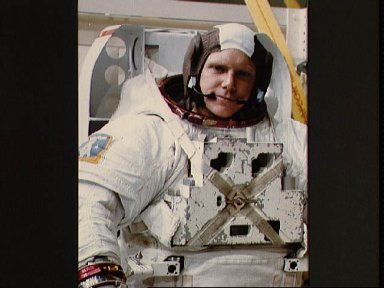 View of Astronaut George Nelson during preparation for WETF training