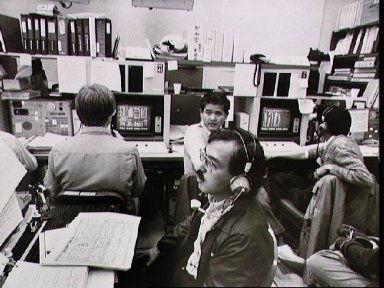 STS-9/Spacelab 1 mission control center activity
