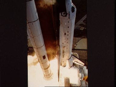 Views of the STS-11 launch from pad 39A on Feb. 3, 1984