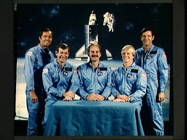 Space Shuttle Mission 41-C Official crew photo