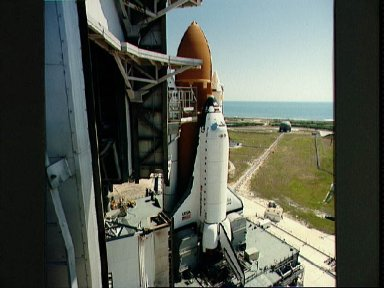 Views of the 41-D rollout of shuttle Discovery to Pad 39A