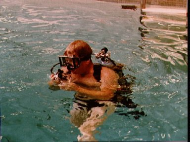 Preparations for Underwater EVA training for the STS 41-G crew