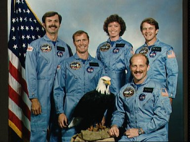 Official photo of the 51-A crew