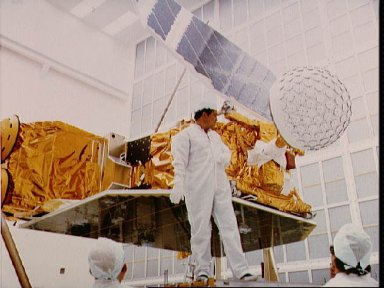 Documentation of STS 41-G payloads while in Hanger AE at Cape Canaveral