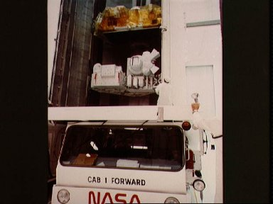 Payload canister transporter in VPF clean room