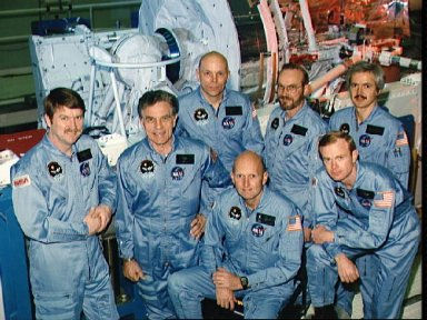 Official portrait of the STS 51-F crew