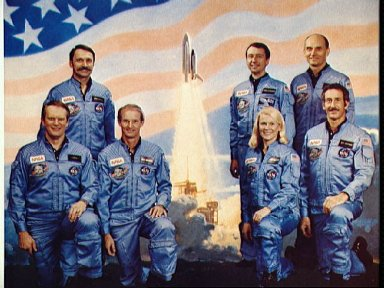 Official portrait of the STS 51-D crew