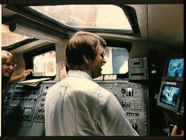 STS 51-F Mission Specialist Anthony England trains on RMS
