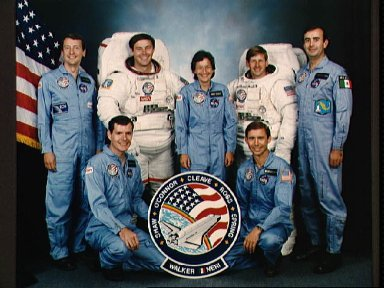 Official portrait of the STS 61-B crew