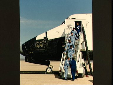 Landing of the Shuttle Atlantis and the end of the STS 51-J mission