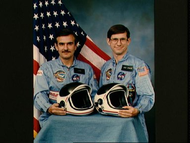 Official portrait Payload specialists Robert Cenker and Gerard Magilton