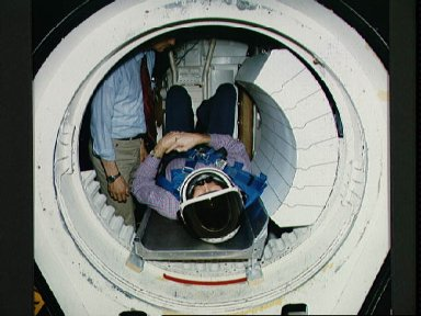 Shuttle crew escape systems test conducted in JSC Bldg 9A CCT