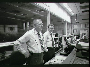 STS-26 long duration simulation in JSC Mission Control Center (MCC) Bldg 30