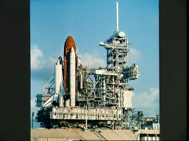 STS-26 Discovery, Orbiter Vehicle (OV) 103, at KSC LC pad 39B