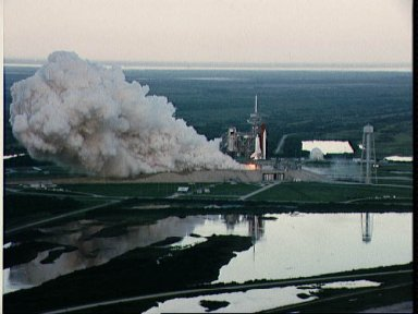 STS-26 Discovery, OV-103, flight readiness firing (FRF) at KSC LC pad 39B