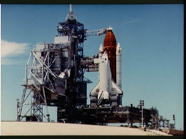 STS-26 Discovery, OV-103, on KSC launch complex (LC) pad 39B during WCDDT