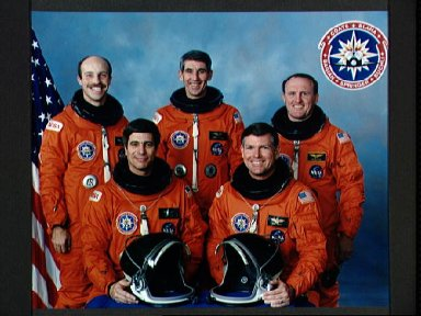 STS-29 Discovery, OV-103, Official crew portrait