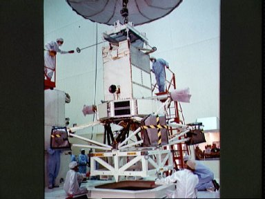 STS-30 Magellan spacecraft processing at Kennedy Space Center (KSC) SAEF-2