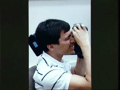 STS-34 Mission Specialist (MS) Chang-Diaz uses ARRIFLEX camera equipment