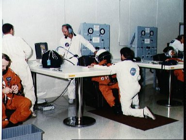 STS-28 Columbia, OV-102, terminal countdown demonstration test (TCDT) at KSC