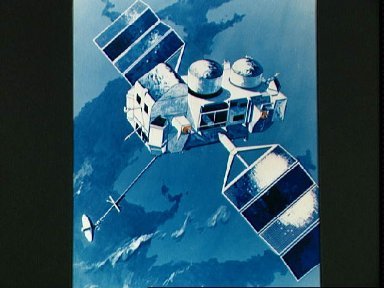 Artist concept - Gamma Ray Observatory (GRO) orbits Earth after STS-37 deploy