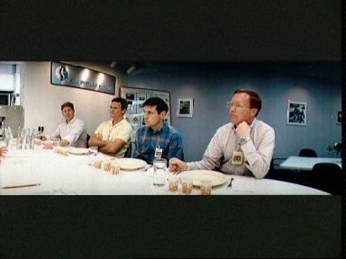 STS-41 crewmembers sample food selections at JSC's Man-Systems Division lab