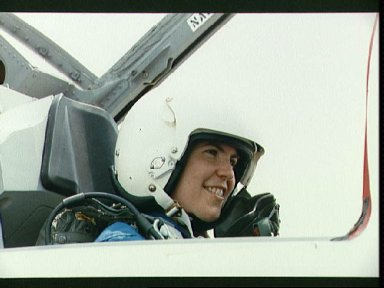 Group 13, 1990 Astronaut Class candidate Voss in T-38 rear cockpit