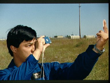 1990 astronaut candidate Chiao determines location during wilderness training