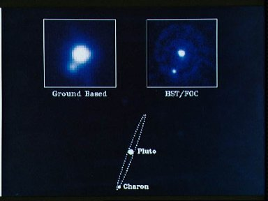"""HST image of Pluto - the """"Double Planet"""