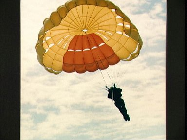 STS-47 Payload Specialist Mohri parasails during Homestead AFB water training
