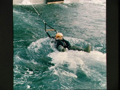 STS-47 Payload Specialist Mohri during Homestead AFB water survival training