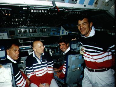 STS-44 Atlantis, OV-104, crewmembers participate in FB-SMS training at JSC