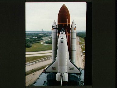 Endeavour, Orbiter Vehicle (OV) 105, roll out to KSC Launch Complex Pad 39B