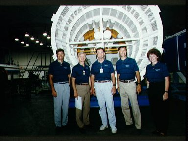 STS-54 Endeavour, OV-105, crewmembers participate in WETF briefing at JSC