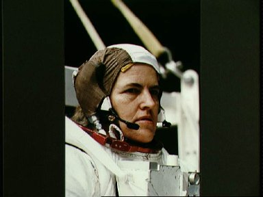Astronaut Shannon Lucid in training for contingency EVA for STS-58 in WETF