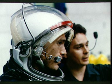 STS-51 astronauts participate in emergency bailout training in WETF