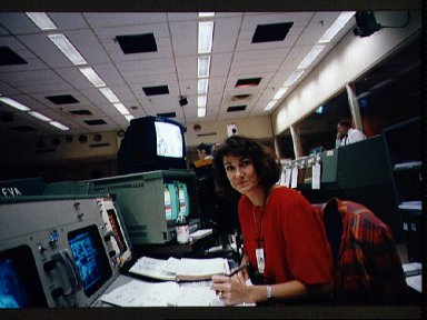 EVA console personnel during STS-61 simulations