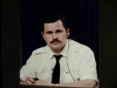Cosmonaut Budarin during STS-71 news conference