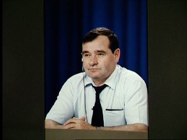 Cosmonaut Strekalov during STS-71 news conference