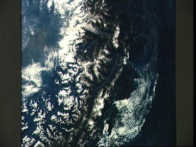 Snow covered Alps of France, Italy, and Switzerland