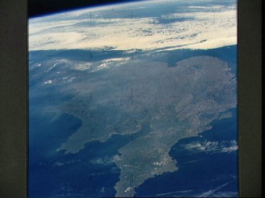 View of a portion of Great Britain looking northeastward