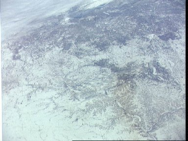 Minnesota, Iowa, Wisconsin and Mississippi river as seen from Skylab