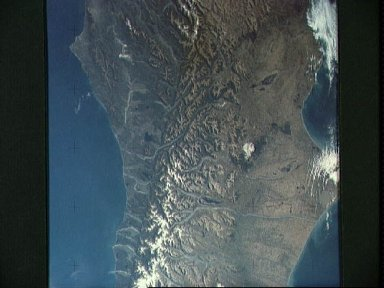 View of portion of South Island, New Zealand as seen from Skylab