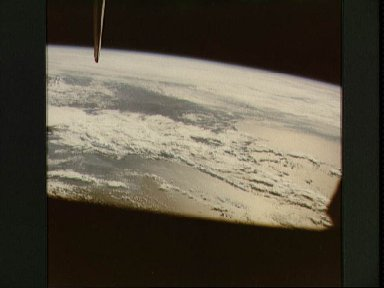 Earth Limb and Clouds over Open Ocean, Location Unknown