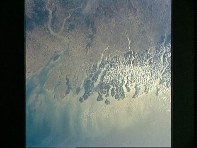 Mouths of the Hooghly and Ganges Rivers, India