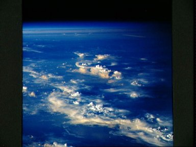 STS-35 Earth observation of thunderstorm systems over the Indian Ocean