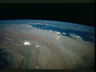 STS-35 Earth observation of the Persian Gulf area