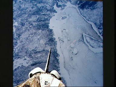 STS-42 Earth observation of James Bay in eastern Canada